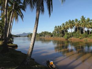 Eilanden in de Mekong