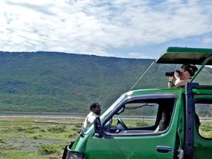 Flamingo's en neushoorns - Lake Nakuru